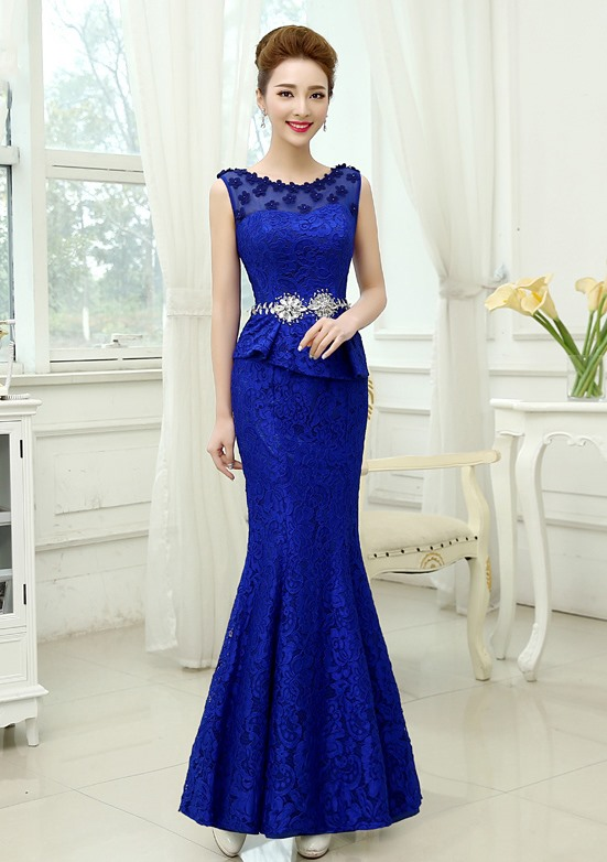 Timeless Sheath Lace Flowers Beading Zipper-up Long Evening Dress(Free Shipping)