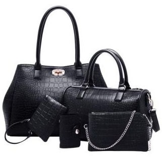 Classic Pu with Little Bags Women's Bag Set