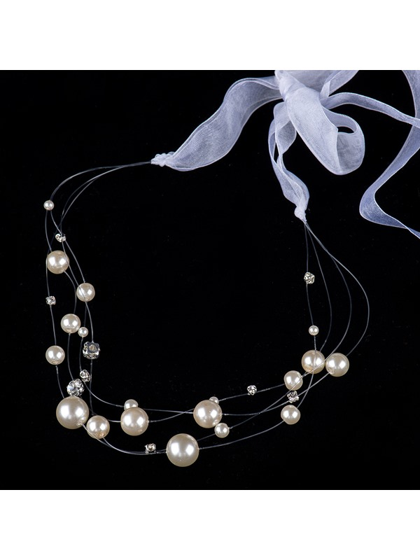 Charming Round Pearls Wedding Headwear