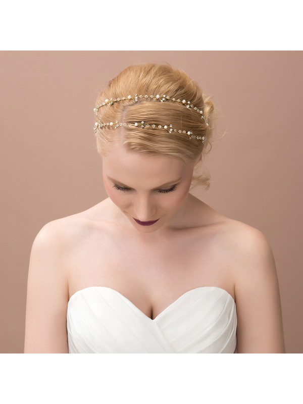 Pretty Rhinestone and Alloy Wedding Headband