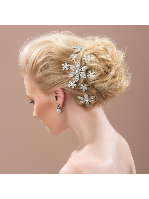 Floral Rhinestone Alloy Wedding Headpiece