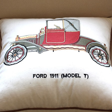 Stylish Cotton Linen Ford-Print Pillowcase