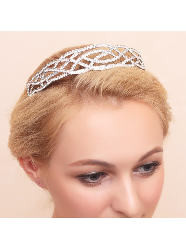 Charming Diamante Rhinestone Alloy Wedding Tiara