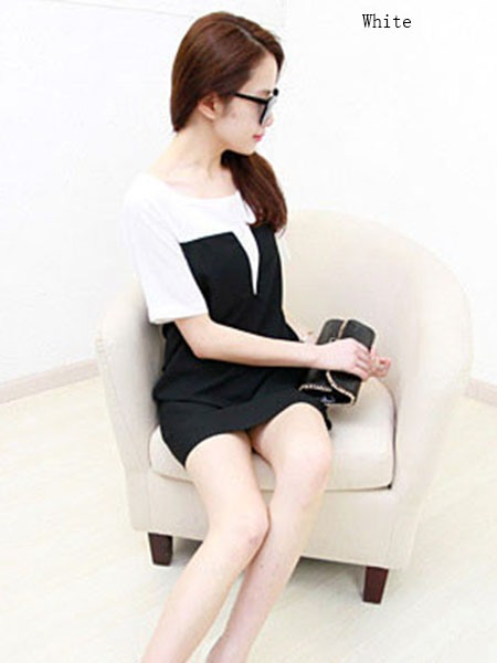 Black and White Patchwork Blouse