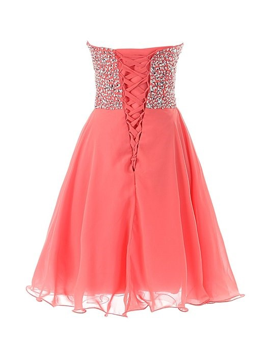 Sweetheart Sequined Beading Short Homecoming Dress
