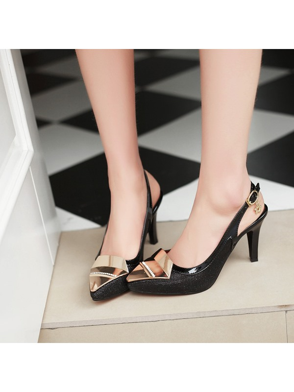 Meta & Pointed Toe Slingback Pumps
