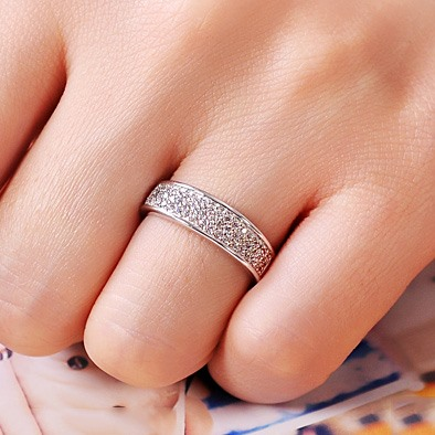 Collection NSCD Pt950 High Quality Engagement Ring