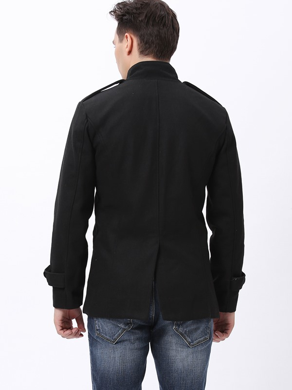 Casual Stand Collar Men Coat