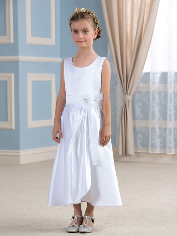 Classic White Flower Girl Dress Cheap