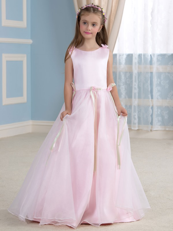 Classic Pink Princess Flower Girl Dress Cheap