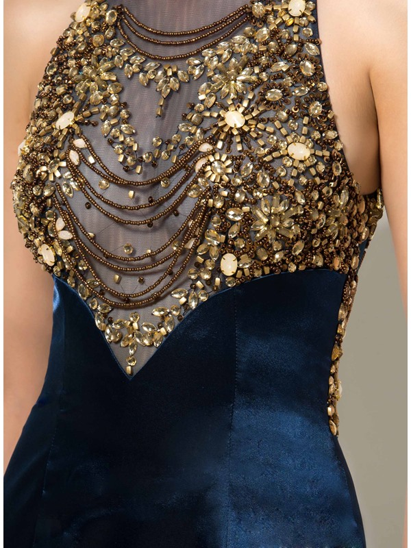 Jewel Beaded Crystal Hollow Mermaid Evening Dress(Free Shipping)