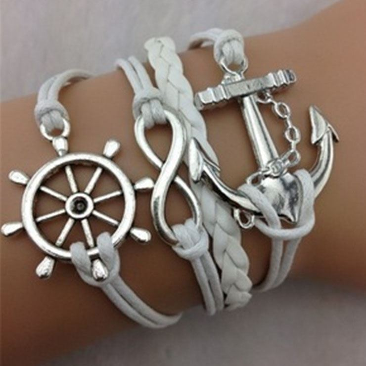 Anchor & Infinity Decorated Friend Bracelet