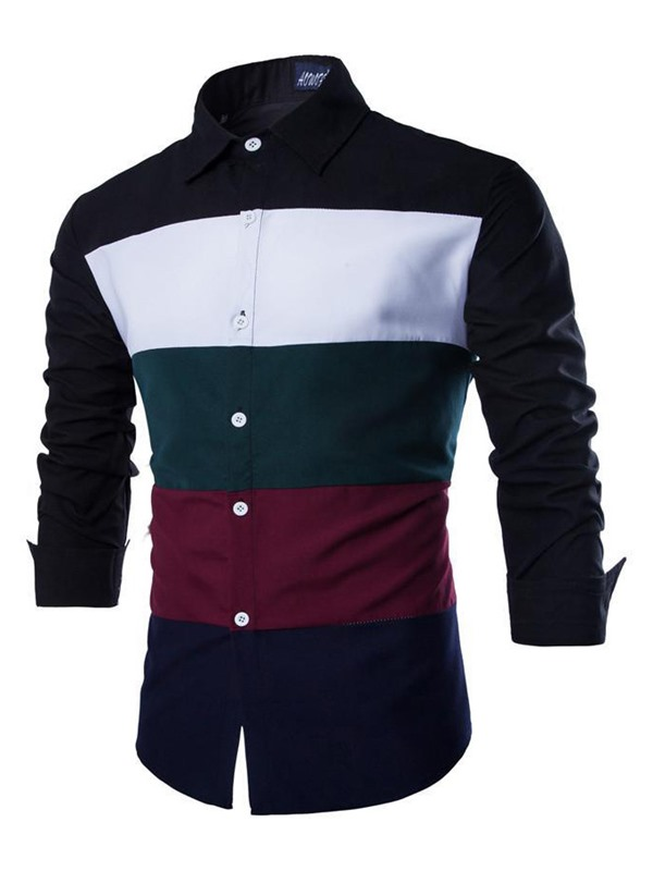 High quality Lapel Long Sleeve Men Shirt