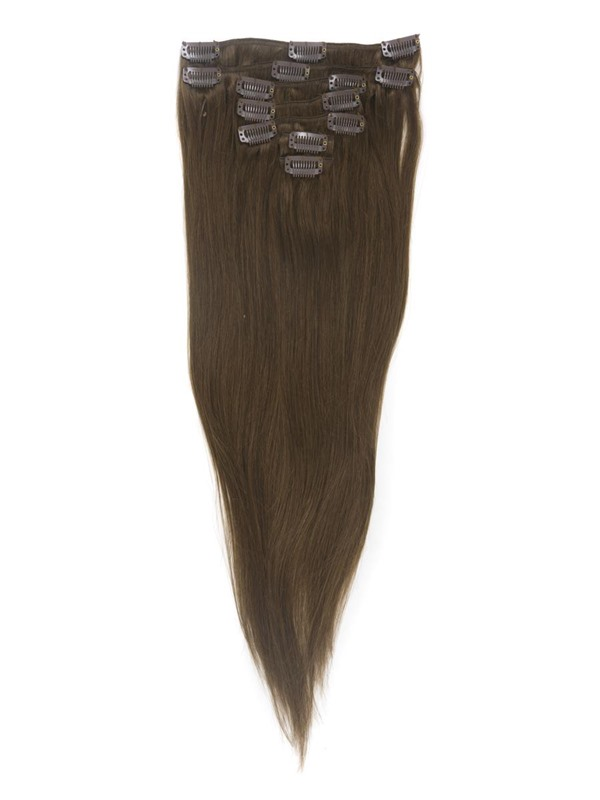 Natural Straight 7PCS Clip in Human Hair Extensions(Free Shipping)