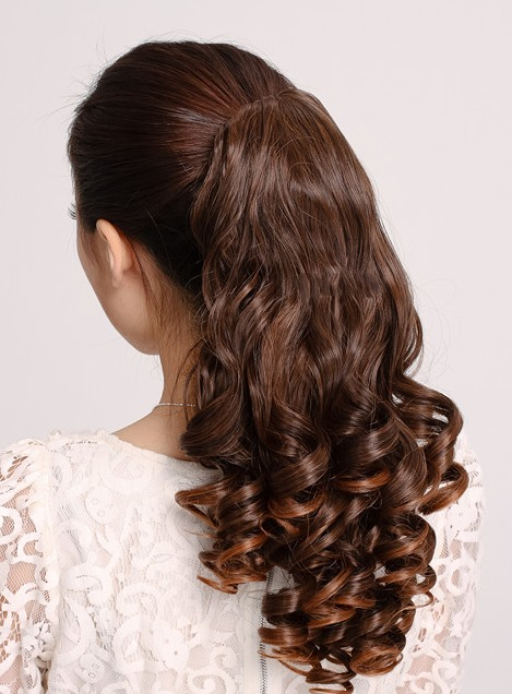 Long Natural Curly Synthetic Ponytail(Free Shipping)