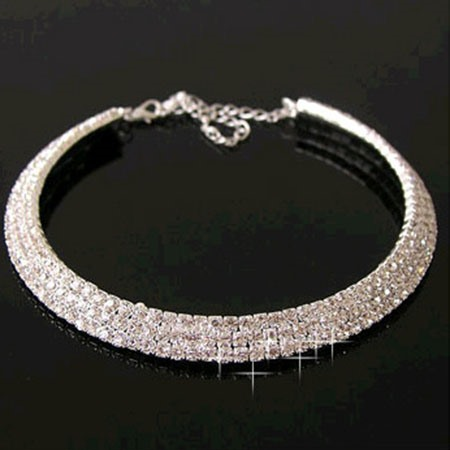 Dazzling Rhinestone Decorated Women's Necklace