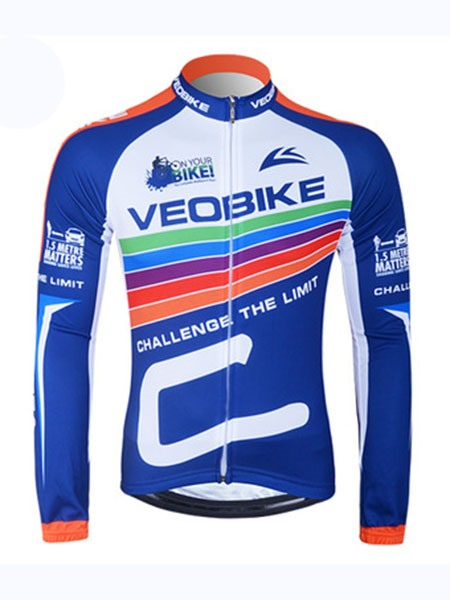 Front-Zipper Long-Sleeve Sports Wear Cycling Jersey