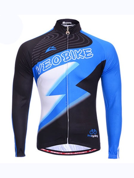 Color Block Lighting Men's Cycling Jersey