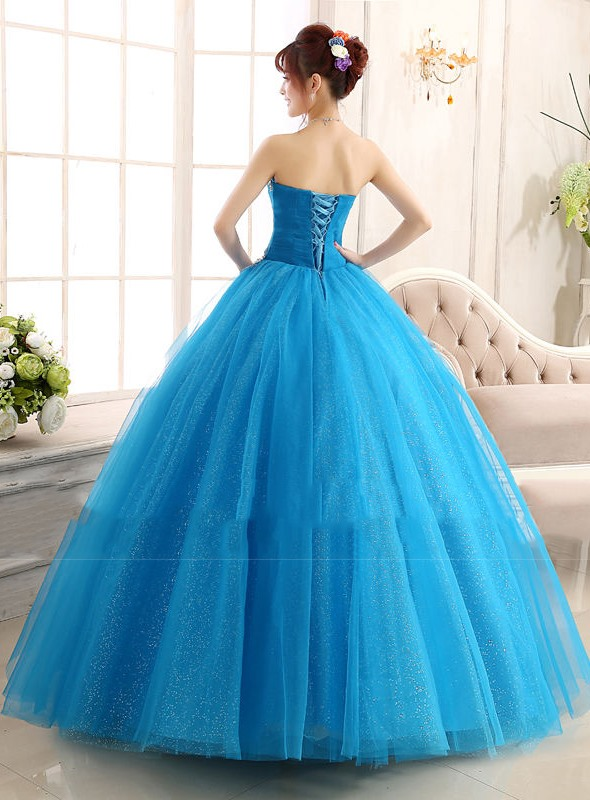 Sweetheart Ruched Beaded Quinceanera Dress
