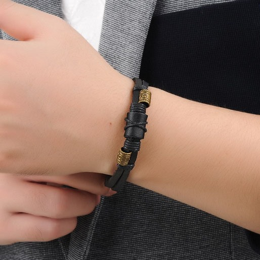 Fashion Metal Decorated Men's Bracelet