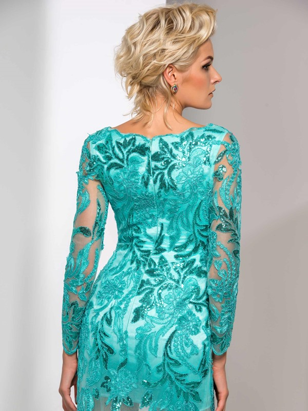 Graceful V-Neck Sequined Appliques Long Sleeve Long Mermaid Evening Dress(Free Shipping)