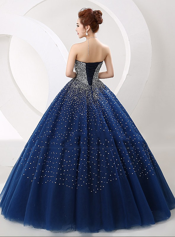 Sweetheart Sequined Beaded Quinceanera Dress