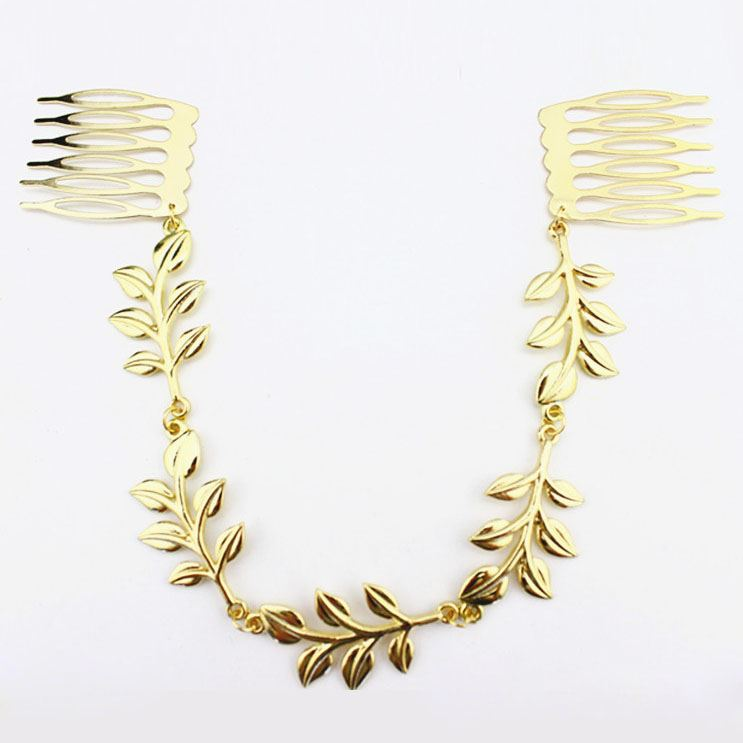 Golden Leaves Comb Hair Accesosries