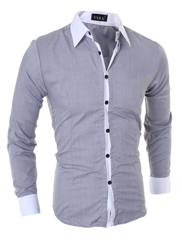 Slim Fit Vogue Lapel Men's Leisure Shirt