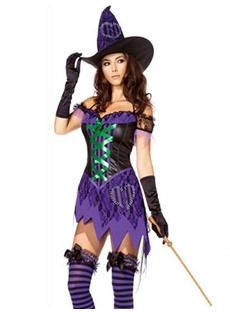 Sexy Lace Fashion Witch Costume