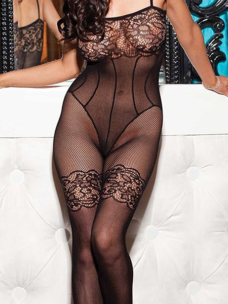 Graceful Hollow Sensual Lace Body Stocking for Women