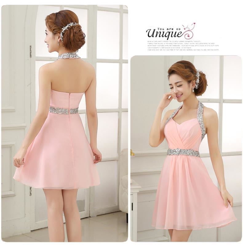 Hot Sale  Beading Sequins Short Homecoming Dress(Free Shipping)