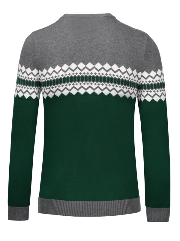 Tidebuy Color Block Pattern Men's Pullover Sweater