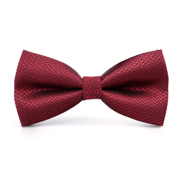Red Color with Geometric Print Wedding Men's Bow Tie