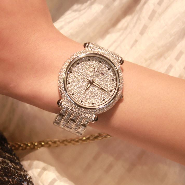 High Quality Starry Artificial Crystal Decorated Women's Watch