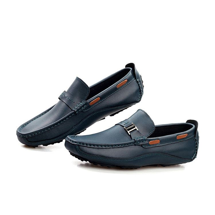 PU Buckles Slip-On Loafers