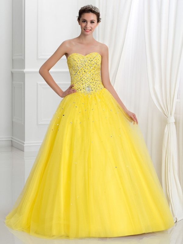 Shining Sweetheart Beading Sequins Quinceanera Dress