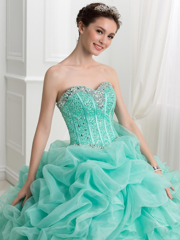 Sweetheart Beading Pick-ups Quinceanera Dress