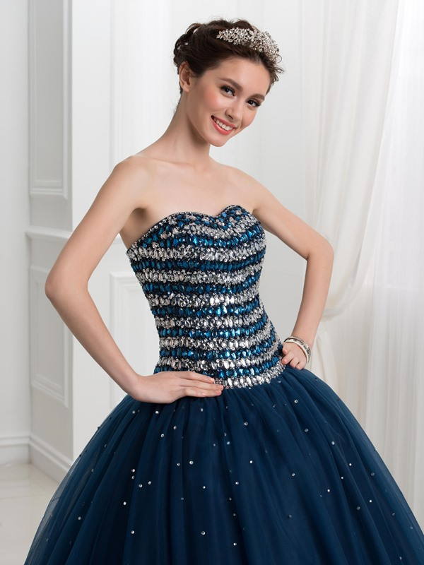 Sweetheart Sequins Tulle Quinceanera Dress