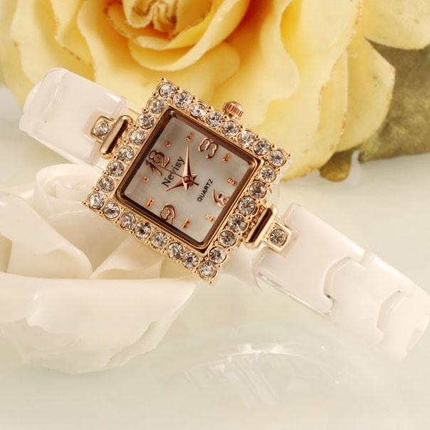 Fashion Square Shaped with Rhinestone Women's Watch