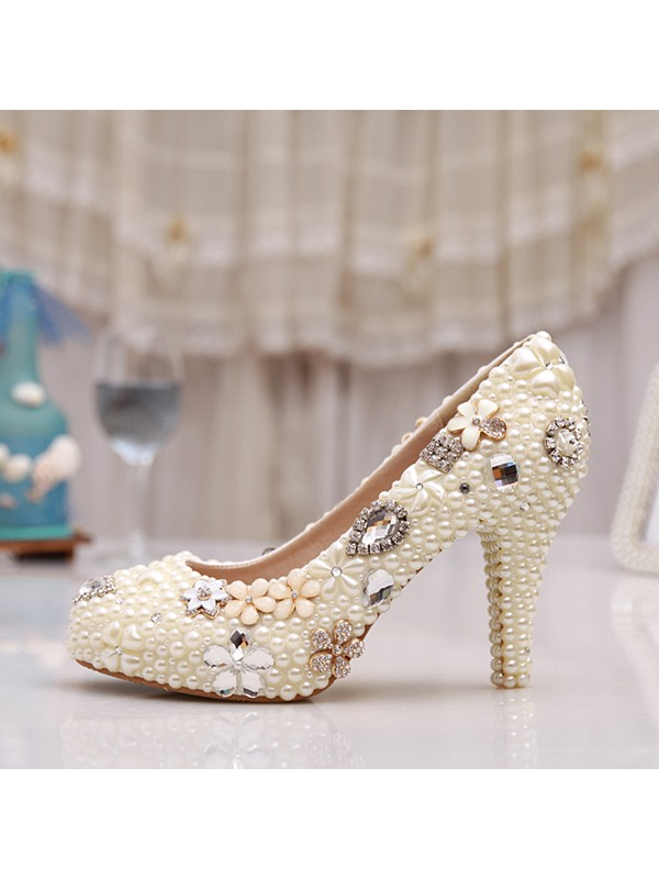 Charming Beaded Slip-On Bridal Shoes