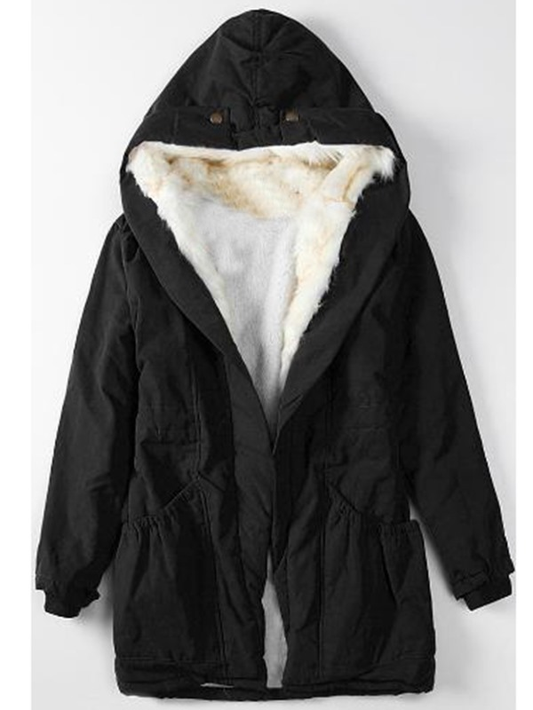 Casual Hooded Warm Overcoat