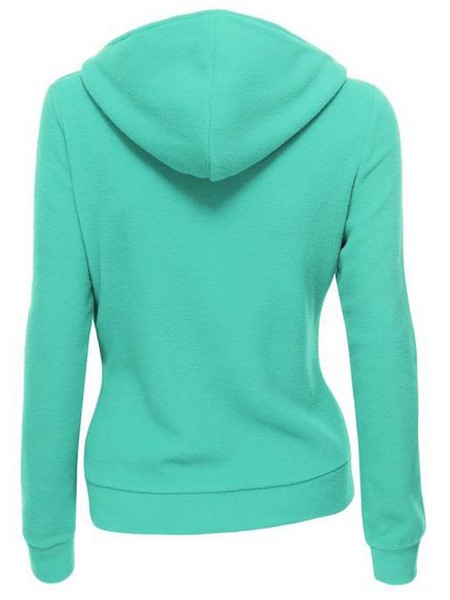 Hooded Splendid Sloping Zipper Lapel Hoodie