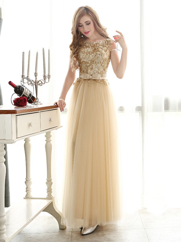 Glamorous A-Line Straps Bowknot Sequines Long Prom Dress(Free Shipping)