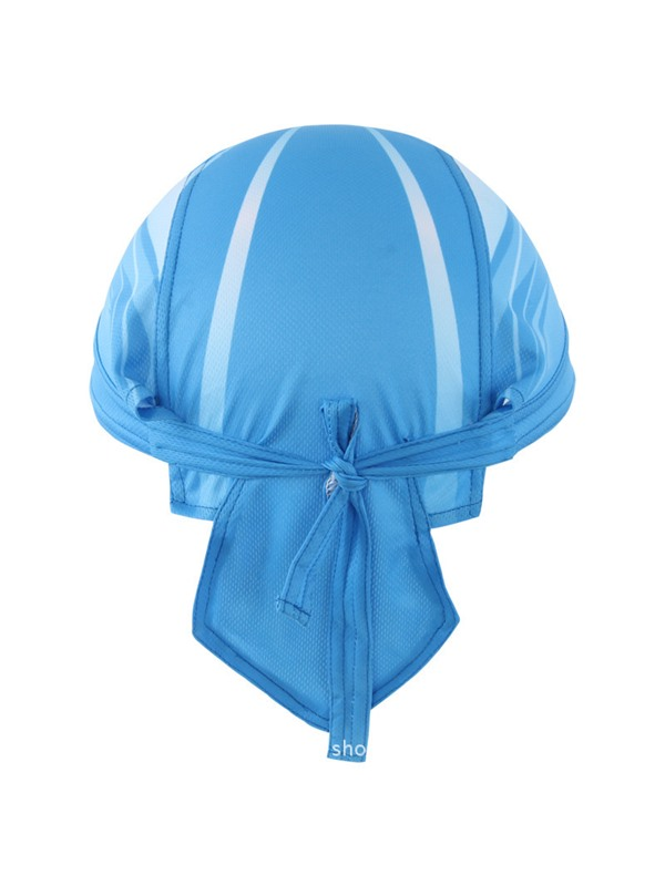 Polyester Blue Cycling Snapback Hat