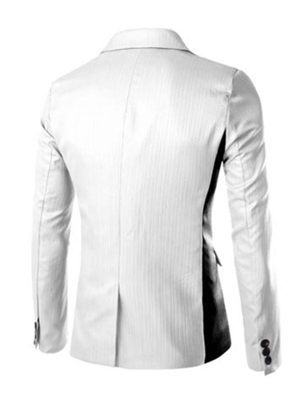 One Button Solid Color Men's Business Blazers