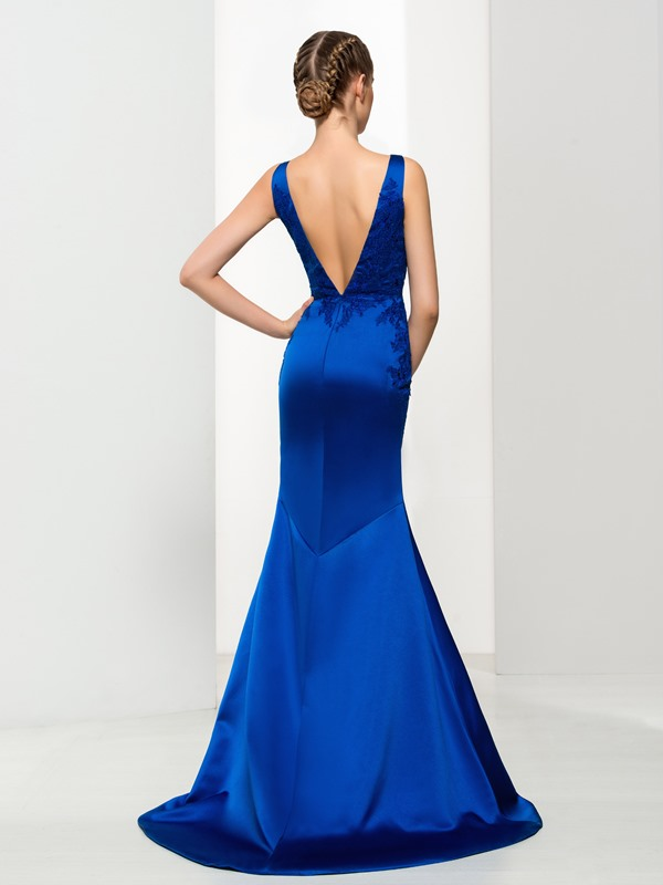 Timeless V-Neck Appliques Mermiad Evening Dress