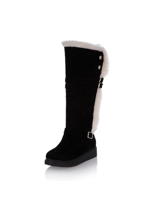 Purfle Suede Knee High Boots