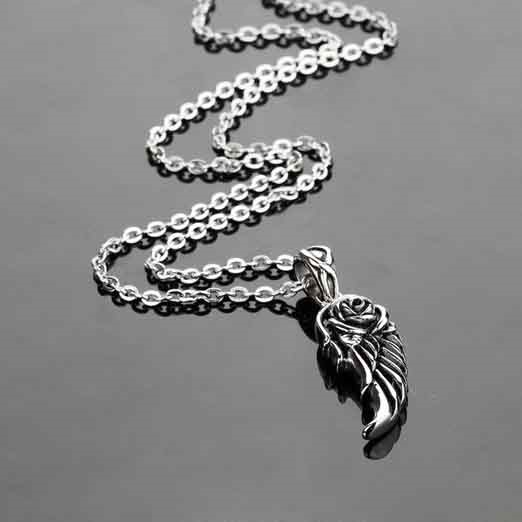 Wing Shaped Pendent Titanium Steel Necklace