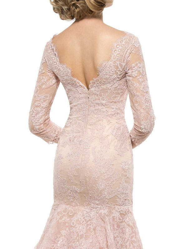 Tiered Lace Mermaid Mother of the Bride Dress