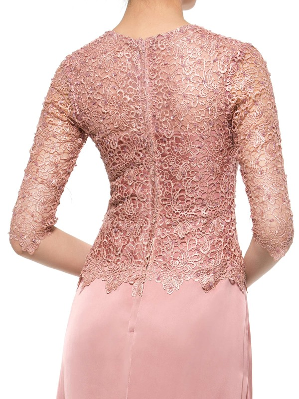 Sequins Lace Half Sleeve Mother of the Bride Dress